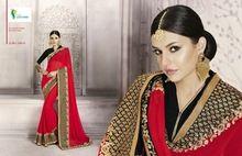 Bridal Marriage Wear Latest Designs Plain Gerogette Sarees