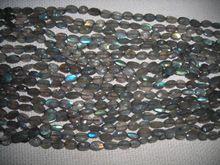 Labradorite Oval Facet Beads Loose Gemstone