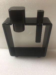 Acrylic Black Shaving Brush And Razor Stand