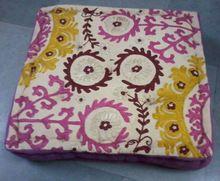 Cotton Patchwork Cushion Covers Poufs
