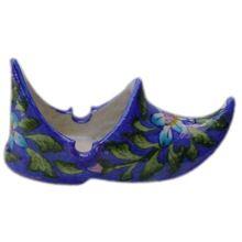 Handmade Blue Pottery Ceramic Cigar Ashtray