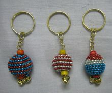 Lac Mirror Work Key Chain