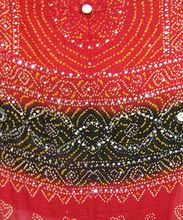 Red Black Jaipuri Cotton Bandhej Dupatta