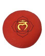 Chakra Embroidered Designed Round Meditation Cushion