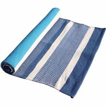 Custom Color Private Label Striped Yoga Rug