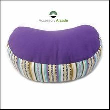 Hand-loom Fabric Crescent Meditation Cushion