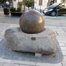 Natural Stone Rotating Round Stone Fountain