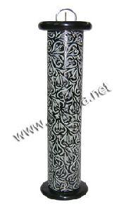 Black Soapstone Incense Tower Burner
