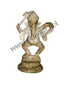 Stone Dancing Ganesha Statue