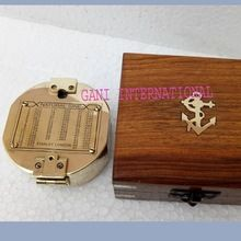 Brass Brunton Level Compass With wooden Box