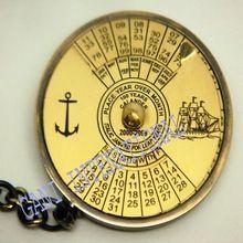 Brass Calendar Keychain
