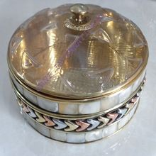 Brass Dates And Fruits Pots