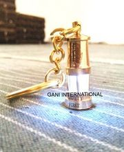 Brass Led Miners Lamp Key Ring