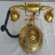 Brass Rotary Dial Working Telephone