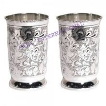 Brass Silver Plated Drinking Glasses