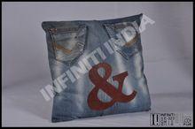 Vintage Designer Denim Cushion