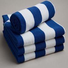 Pool Towel Blue & White Stripes