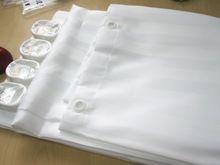 Shower Curtain Satin Stripes