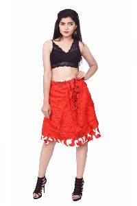 27 Inches Knee Length Wrap Skirt
