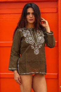Fancy Chicken Embroidered Kurti