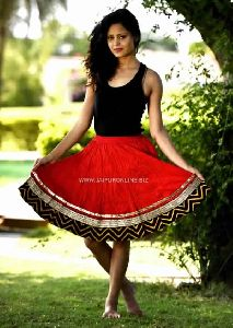 Girls Stylish Cotton Mini Skirt