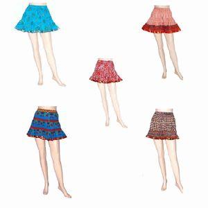 Jaipuri Handblock Printed Bollywood Designer Mini Skirt