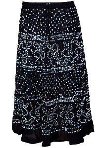 Mirror Work Bandhej Rajasthani Cotton Skirt