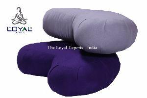Cotton Yoga Crescent Cushion