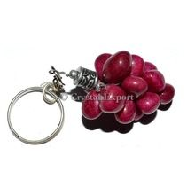 Dyed Ruby Tumbled Grapes Key Chain