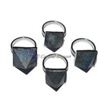 Gemstone Lapis Lazuli Pyramid Ring