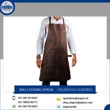 Adjustable Strap Leather Apron Cooking For Men