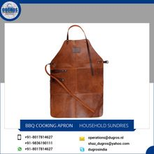 Bbq Leather Kitchen Cooking Apron