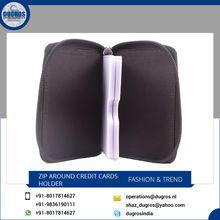 Rfid Blocking Leather Credit Card Holder