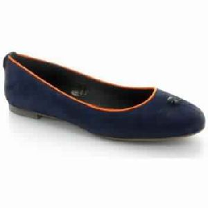 Blue Suede Woman Shoes Ballerinas / Babies, Destockage Ikks Lyon, Fashion
