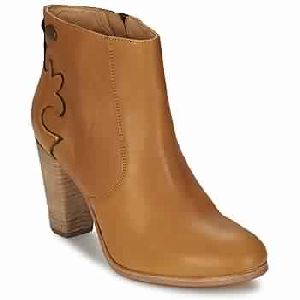 Cognac Woman Shoes Ankle Boots