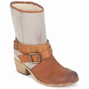 Ines Brown / Taupe Woman Shoes Boots