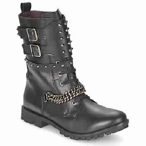Ranger-collector-chain Black Woman Shoes Boots