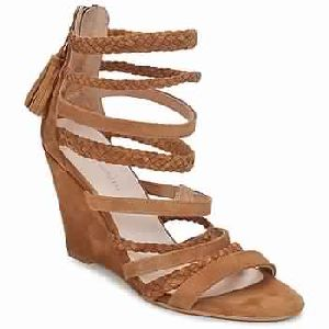 Sandal Wedge Braid Camel Woman Shoes