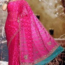 Designer Pink Patola Saree