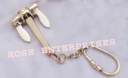 Brass Anchor Key Chain