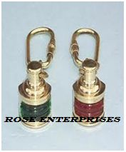 Brass Port Lantern Lamp Key Chain