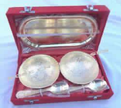 Brass Utensil Set Tray