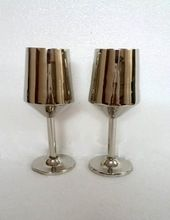 Hand Crafted Smooth Silver Plated Wedding Cocktail Cup