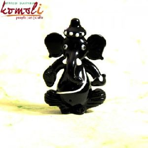 Gajkarna Ganesha - Glass Decorative