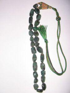 "Emerald Faceted Tumble 15"""