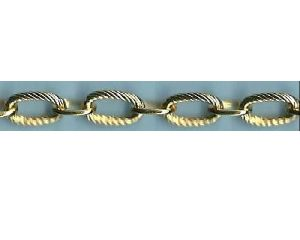 Textured Link Gold Chain