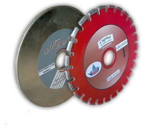 Diamond grooving disc