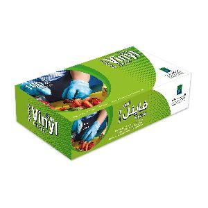 Disposable Vinyl Gloves - Medium/blue