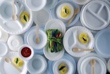Foam Plates and Bowl