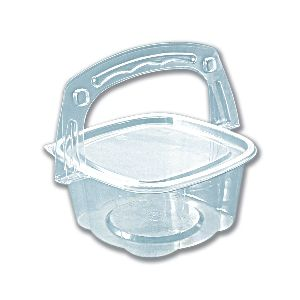 Handipac Basket-like Clear Container W/ Lid 16oz